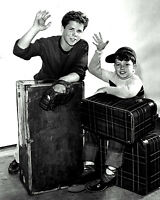 """JERRY MATHERS AND TONY DOW IN """"LEAVE IT TO BEAVER"""" 8X10 PUBLICITY PHOTO (BB-985)"""