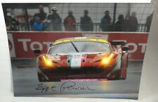 PHOTO cm13x17 SIGNED by Piergiuseppe Perazzini FERRARI 458 GT2 #81 LE MANS 2012