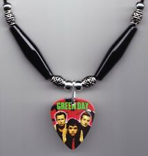 Green Day Band Photo Guitar Pick Necklace #6