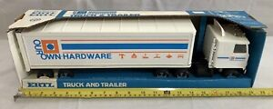 Vintage RARE ERTL Our Own Hardware Store Tractor Trailer Semi Truck New Box 19""