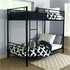 Pemberly Row Twin over Twin Metal Bunk Bed in Black