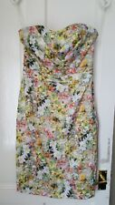 GORGEOUS Floral Sleeveless Pencil Dress OASIS Cotton  Size UK 8 VGC