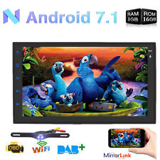 "Android 7.1 7"" Double 2 DIN Car Radio GPS Player WIFI BT Navi + Camera (no dvd)"