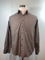 UNTUCKIT Men's Long Sleeve Button Down Dress Shirt Solid Gray Size Medium