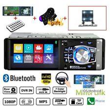 4.1 HD Single 1DIN Car Stereo Video MP5 Player Bluetooth FM Radio AUX + Camera