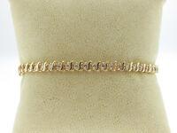 "Estate Genuine Diamonds 1.06ctw Solid 14k Yellow Gold 7"" Tennis Bracelet"