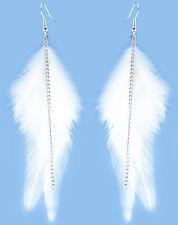 F3508 white Feather chain cute dangle earrings noble women fashion jewelry Hot