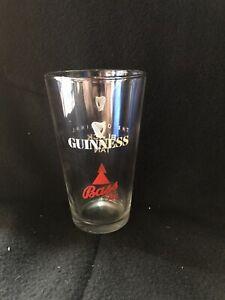 VINTAGE GUINNESS BLACK & TAN, BASS ALE PINT GLASS