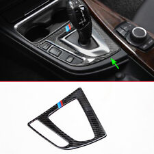 Gear Shift Lever Panel Cover For BMW 3 4 Series Carbon Fiber Gearbox Overlay