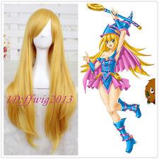 Yu-Gi-Oh! Cosplay Dark Magician Girl Blonde LONG straight Cosplay Wig +a wig cap
