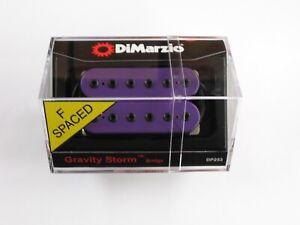 DiMarzio F-Spaced Gravity Storm Bridge Humbucker Purple W/Black Poles DP 253