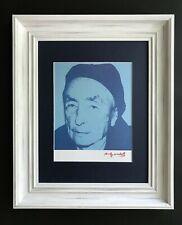 ANDY WARHOL ORIGINAL 1984 SIGNED AWESOME PRINT MATTED 11X14 + GEORGIA O'KEEFFE