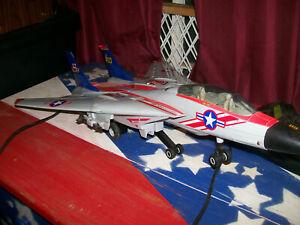Vintage new Bright F-14 Tomcat Flight Simulator Jet USS KNimitz  Airplane Toy