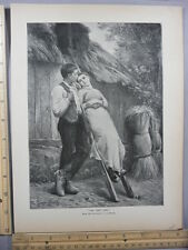 Rare Antique Original VTG 1888 From G Landelle First Step Photogravure Art Print