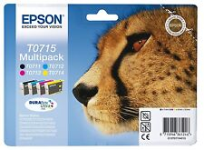 Epson Genuine T0715 Cheetah Ink set T0711 T0712 T0713 T0714  C13T07154020 4 Inks