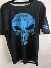 Under Armour® Alter Ego Punisher Blue Compression Shirt Size XL EUC!