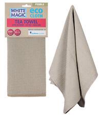 White Magic Eco Cloth Tea Towel Pebble (Carton of 6)