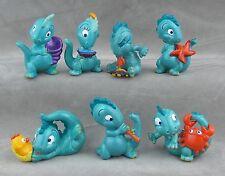 7 Überraschungsei Figuren Drolly Dinos 1993 Saurier UeEi im Paket