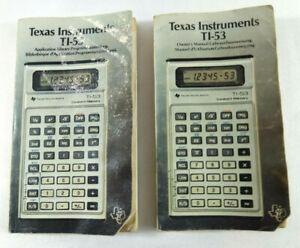 Manuels Calculatrice Vintage Texas Instruments TI 53  Envoi rapide et suivi