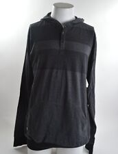 2014 NWT MENS ELEMENT BRADLEY PULLOVER HOODIE $50 L black heather grey stripes