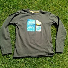 O'NEILL BOYS  LONG SLEEVE TOP T- SHIRT size Large  Bottle Green Motif on front.