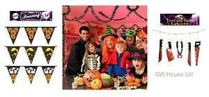 HALLOWEEN PVC BUNTING GARLAND Party Banner Hanging Home Decoration Foil Paper