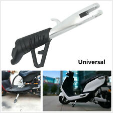 Silver Adjustable Motorcycle Scooter Foot Kickstand Side Stand Support Universal