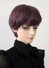 "1/3 1/4 bjd 7-8"" doll head violet short wig dollfie Luts Iplehouse MSD 28053"