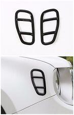 2pcs Black Car fender Side lamp Cover Frame Trims  for Jeep Renegade 2015-2016