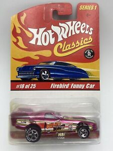 Hot Wheels Classics Series 1 Firebird Funny Car Pink 1/64 Scale FREE SHIPPING