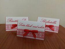 10 segnagusto confetti festa compleanno sweet table matrimonio comunione rosso