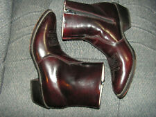 Durango Mens DB955 Black Cherry Zip Ankle Cowboy Boots 9.5D Western Dress