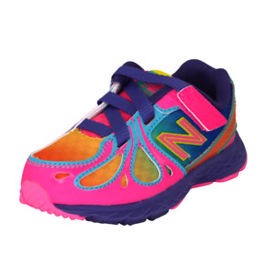 New Balance KV890GRI Toddler Shoes Baby Girls Mesh Adjustable Athletic Pink SZ 6