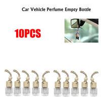 10Pcs Deluxe Air Car Perfume Hanging Gadget Diffuser Empty Bottle Freshner