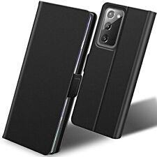 COVER per Samsung Galaxy Note20 / Ultra 5G CUSTODIA SLIM PORTAFOGLIO PELLE Nero