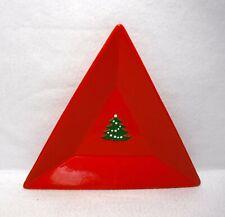 """WAECHTERSBACH china CHRISTMAS TREE pattern Triangular Tray - 8-1/2"""""""
