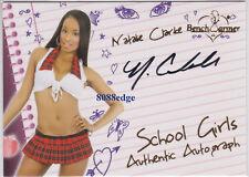 2011 BENCHWARMER LIMITED SCHOOL GIRL AUTO: NATALIE CLARKE #3 AUTOGRAPH