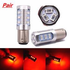1157 LED Red Flash Strobe Blinking Alert Safety Brake Tail Stop Light Bulbs Pair