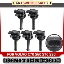 Set of 5pcs Ignition Coil Pack for Volvo C70 S60 S70 S80 V70 XC90 XC70 Turbo