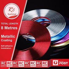Metallic Silver Car Wheel Rims PVC Protector Tire Guard Line Moulding Decoration