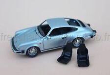 CI Voiture PORSCHE 911 SC 1/43 Heco miniature Chateau blanc interieur roue gris