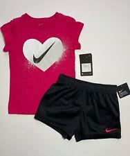 Nike Girls Shorts & Tee Shirt Set Outfit 6 6X NEW