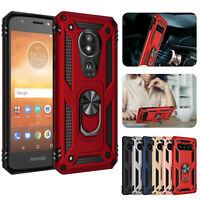 For Motorola Moto E5 Play / E5 Cruise Case Shockproof Armor Ring KickStand Cover