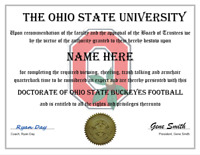 THE OHIO STATE BUCKEYES FOOTBALL PERSONALIZED FAN AWARD, GREAT GIFT