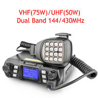 VHF UHF Mobile Ham Radio Transceiver 75W Dual Band Station Repeater Cross Band