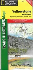 Map of Yellowstone National Park, Wyoming,  Nat'l Geographic Maps #201 (2008)