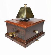 Antique railway signal box block bell