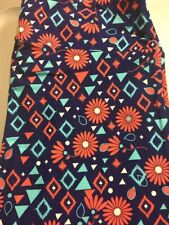 LuLaRoe TC Navy Geometric, Flowers New Super Soft.