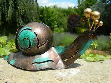 Titular de la luz de té de Caracol Linterna de jardín ornamento Caracol de Metal