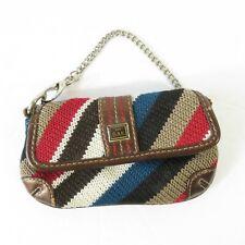 The SAK Multi Color Woven Knit Tiny Wristlet Purse Wallet Cell Phone Purse Mini
